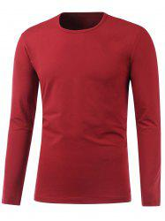 Round Neck Long Sleeve Plain T Shirt