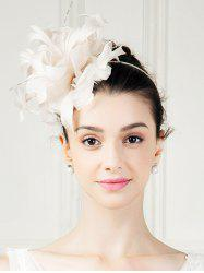 Fancy Feather Fascinator Floral Hat