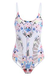 Printed Cut Out Cami Swimwear