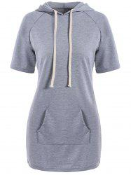 Mini Kangaroo Hooded Casual Dress With Pockets
