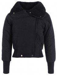 Zip Shearling Panel Cropped Veste matelassée -