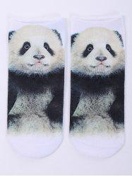 One Side 3D Panda Baby Printed Crazy Ankle Socks