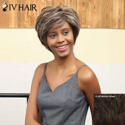 Siv Hair Short Pixie Side Bang Layered Straight Human Hair Wig