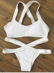 Banded Two Tone Bikini Set