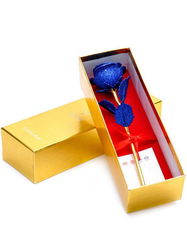 Fancy Wedding Decor Gold Plated Rose Flower with Gift Box