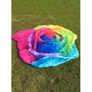 Multicolor Rose Design Beach Throw - Colorful - One Size