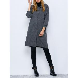 Oversized Button Up Dress Longline Shirt