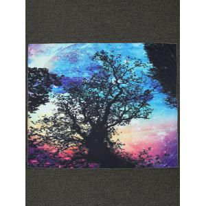Rectangle Tree Print Beach Throw - Black - One Size