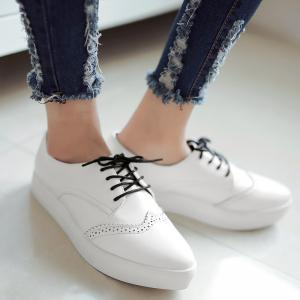Tie Up Pointed Toe Athletic Shoes -