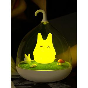 USB Rechargeable Touch Sensor LED Cartoon Birdcage Night Light - Yellow