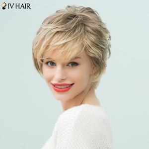 Siv Hair Short Layered Side Bang Pixie Human Hair Wig -