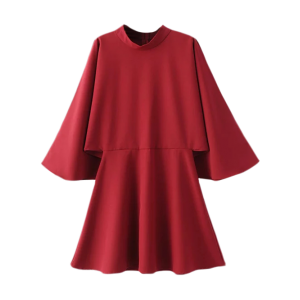 Split Bell Sleeve A Line Dress