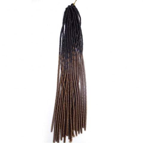 Cheap Long Braids Heat Resistant Fiber Hair Extension - BLACK AND BROWN  Mobile