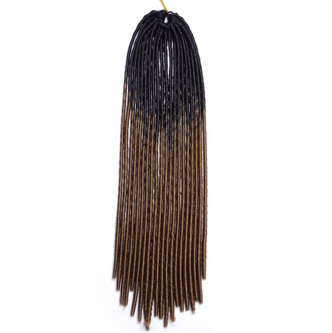 Outfit Long Braids Heat Resistant Fiber Hair Extension - BLACK AND BROWN  Mobile
