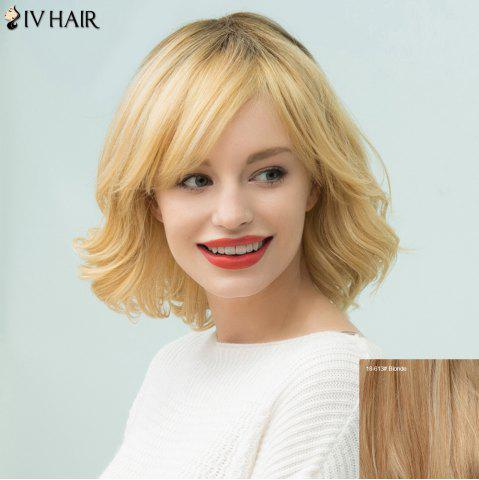 Unique Siv Hair Short Shaggy Curly Inclined Bang Bob Human Hair Wig