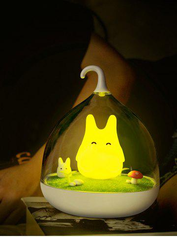 Outfits USB Rechargeable Touch Sensor LED Cartoon Birdcage Night Light - YELLOW  Mobile