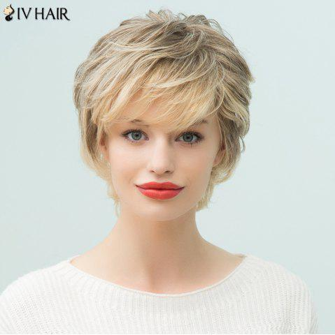 Unique Siv Hair Short Layered Side Bang Pixie Human Hair Wig