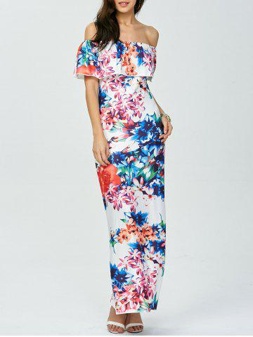 Outfit Floral Off The Shoulder Long Dress for Wedding