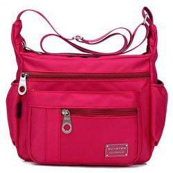 Leisure Zippers and Nylon Design Shoulder Bag For Women