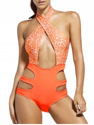 Alluring Criss-Cross Backless Swimwear For Women