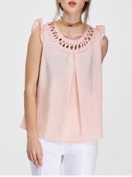 Flounced Criss Cross Blouse