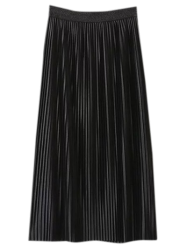 Midi Pleated Elastic Waist Skirt