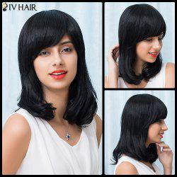 Siv Hair Medium Inclined Bang Natural Straight Bob Human Hair Wig