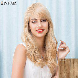 Siv Hair Long Fluffy Wavy Inclined Bang Human Hair Wig
