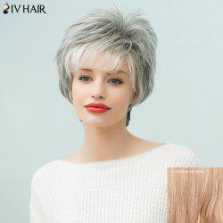 Siv Hair Layered Side Bang Curly Short Pixie Human Hair Wig
