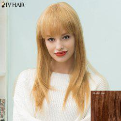 Siv Hair Long Natural Straight Neat Bang Human Hair Wig