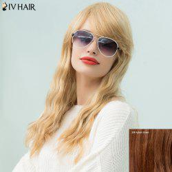 Siv Hair Long Wavy Inclined Bang Human Hair Wig