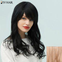 Siv Hair Layered Long Oblique Bang Fluffy Wavy Human Hair Wig