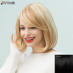 Siv Hair Silky Straight Bob Inclined Bang Short Human Hair Wig