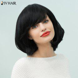 Siv Hair Medium Bob Inclined Bang Straight Human Hair Wig