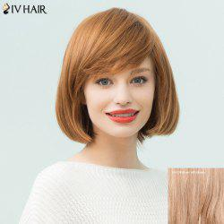 Siv Hair Short Layered Inclined Bang Straight Bob Human Hair Wig