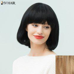Siv Hair Silky Straight Bob Neat Bang Human Hair Wig