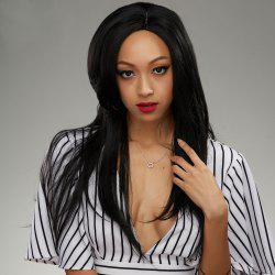 Long Side Parting Natural Straight Lace Front Human Hair Wig