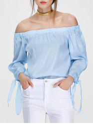 Off The Shoulder Side Slit Blouse
