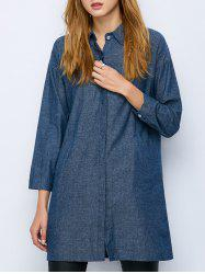 Oversized Long Chambray Longline Shirt