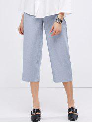 Casual High Waist Crop Gaucho Pants
