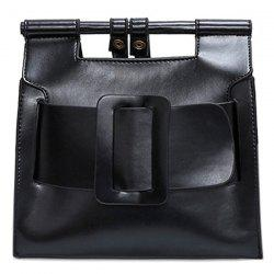 Belt Buckle PU Leather Crossbody Bag