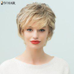 Siv Hair Short Layered Side Bang Pixie Human Hair Wig - COLORMIX