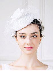 1940s Pillbox Hat with Rhinestone Veil