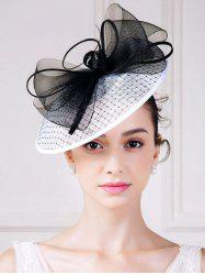 1940s Fascinator Hat with Big Bowknot - WHITE