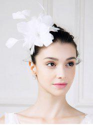 Fascinator Hat with Feathered Flower