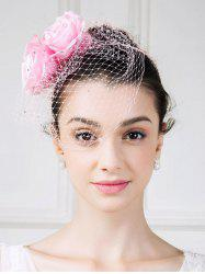 Veil Hairband Fascinator Hat with Roses