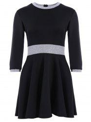 Panel High Waisted Mini Flare Dress
