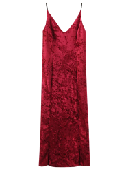 Crushed Velvet Cami Midi Dress
