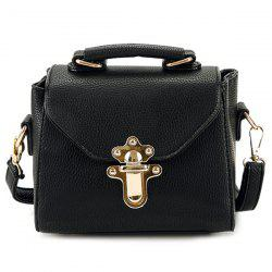 Faux Leather Studded Crossbody Bag