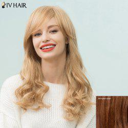 Siv Hair Long Wavy Shaggy Side Bang Human Hair Wig